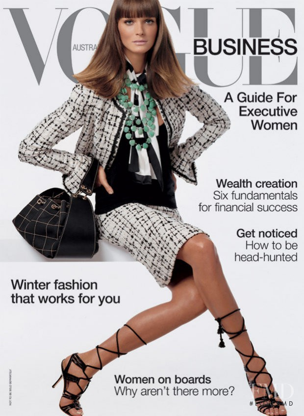 Carmen Kass featured on the Vogue Australia cover from March 2003