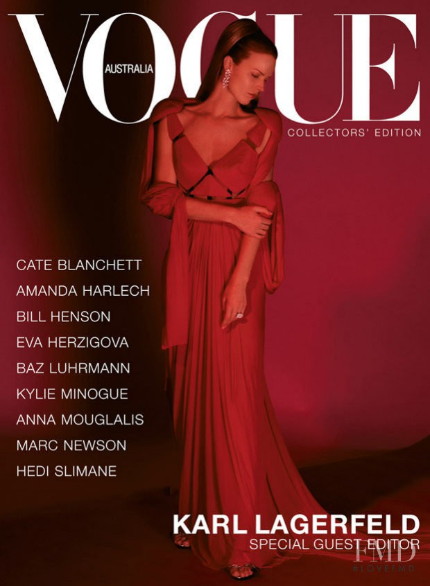 featured on the Vogue Australia cover from December 2003
