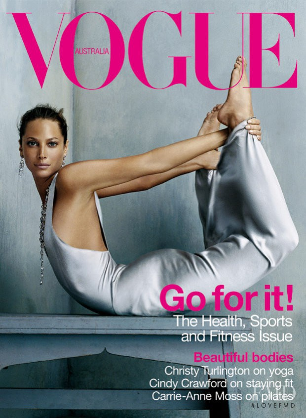 Christy Turlington featured on the Vogue Australia cover from January 2003