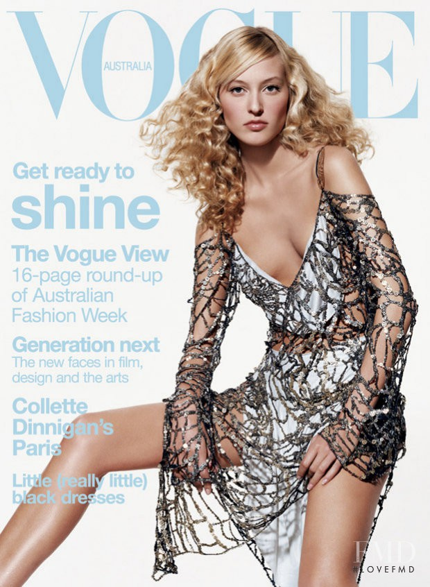 Liisa Winkler featured on the Vogue Australia cover from July 2003