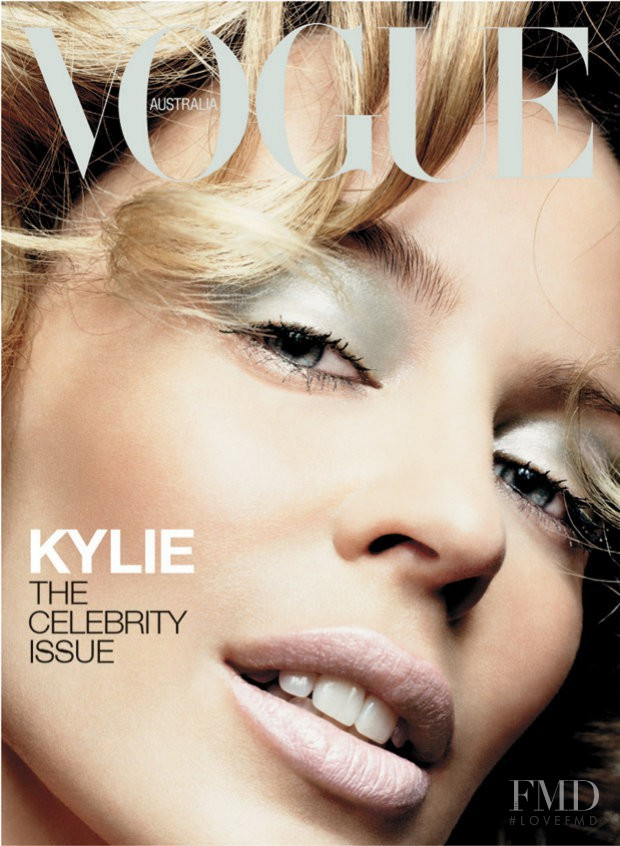 Kylie Minogue featured on the Vogue Australia cover from May 2003