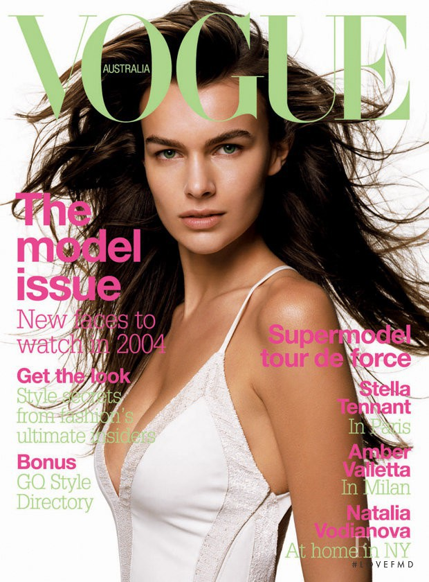 Filippa Hamilton featured on the Vogue Australia cover from April 2004