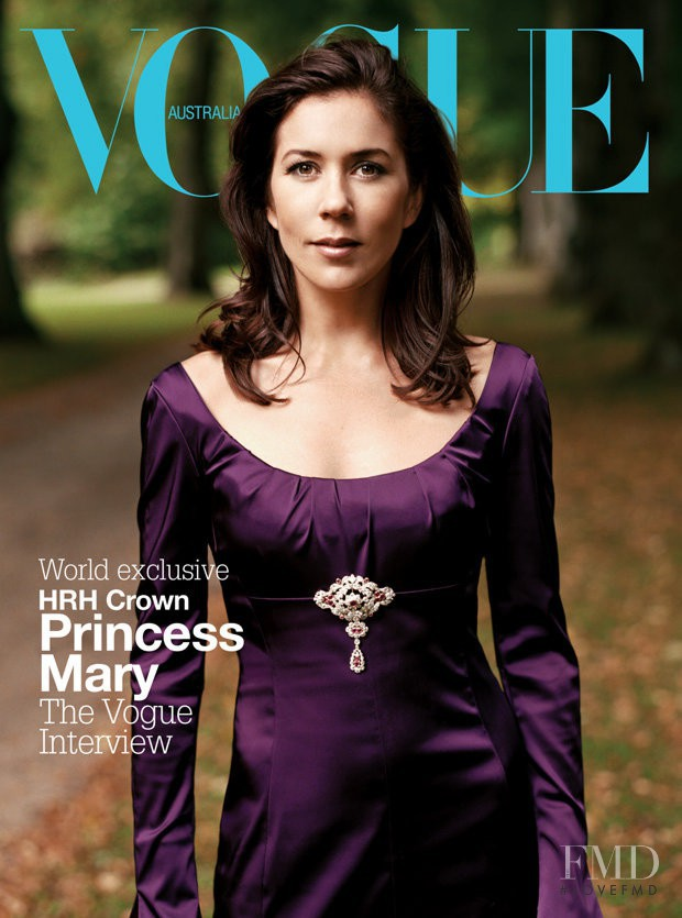 Princess Mary featured on the Vogue Australia cover from December 2004