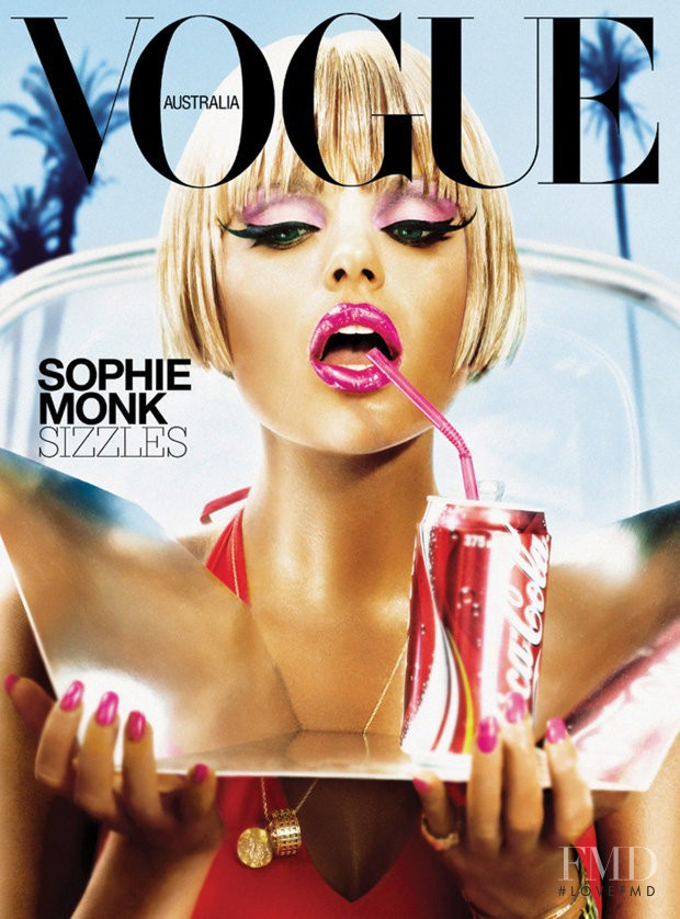 Sophie Monk featured on the Vogue Australia cover from January 2004