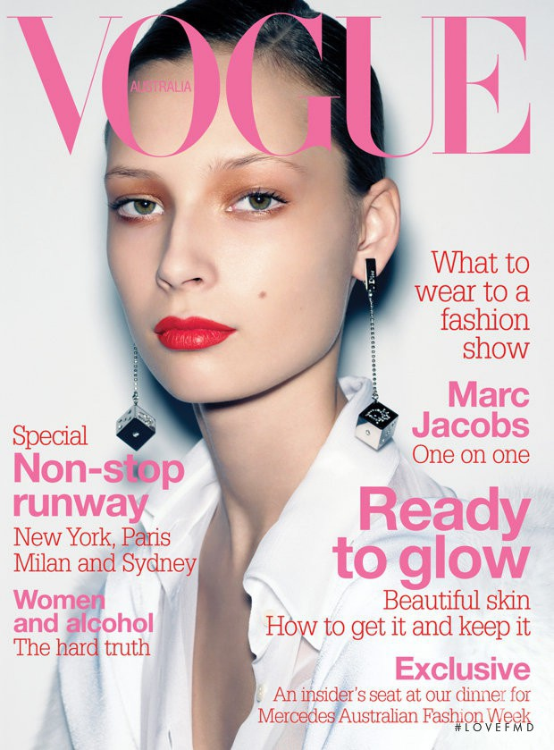 Tiiu Kuik featured on the Vogue Australia cover from July 2004