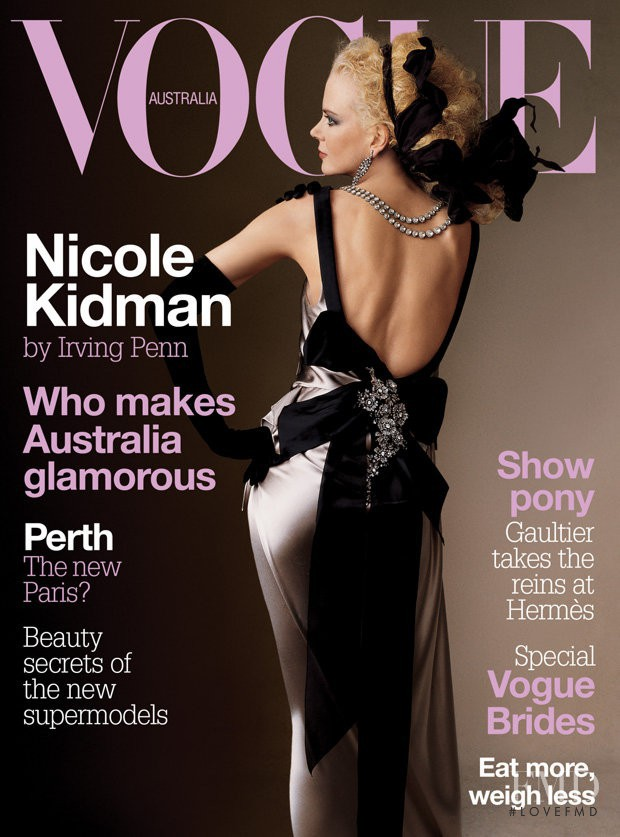 Nicole Kidman featured on the Vogue Australia cover from June 2004