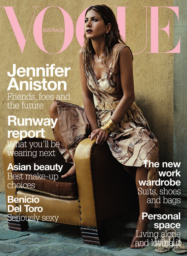Jennifer Aniston featured on the Vogue Australia cover from March 2004