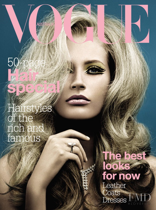 Annika Dop featured on the Vogue Australia cover from May 2004