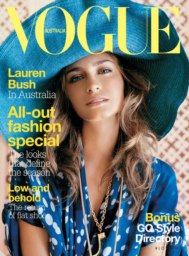 Lauren Bush featured on the Vogue Australia cover from April 2005