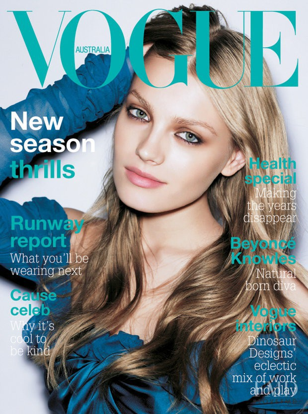 featured on the Vogue Australia cover from August 2005