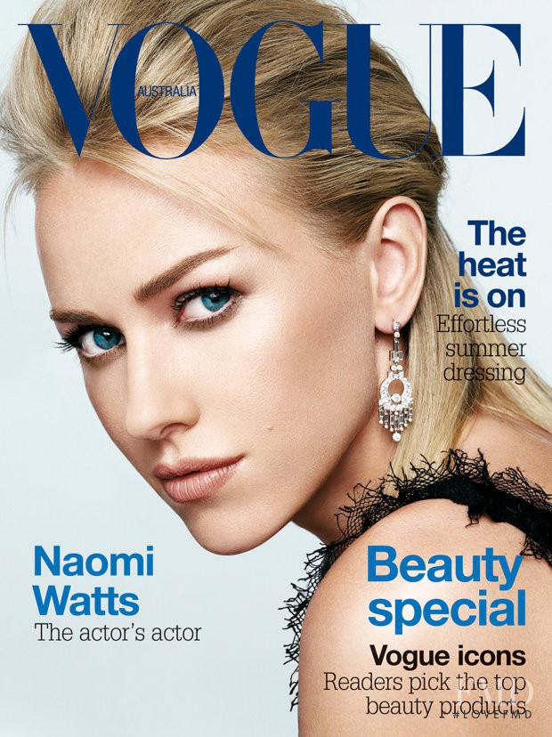Naomi Watts featured on the Vogue Australia cover from February 2005