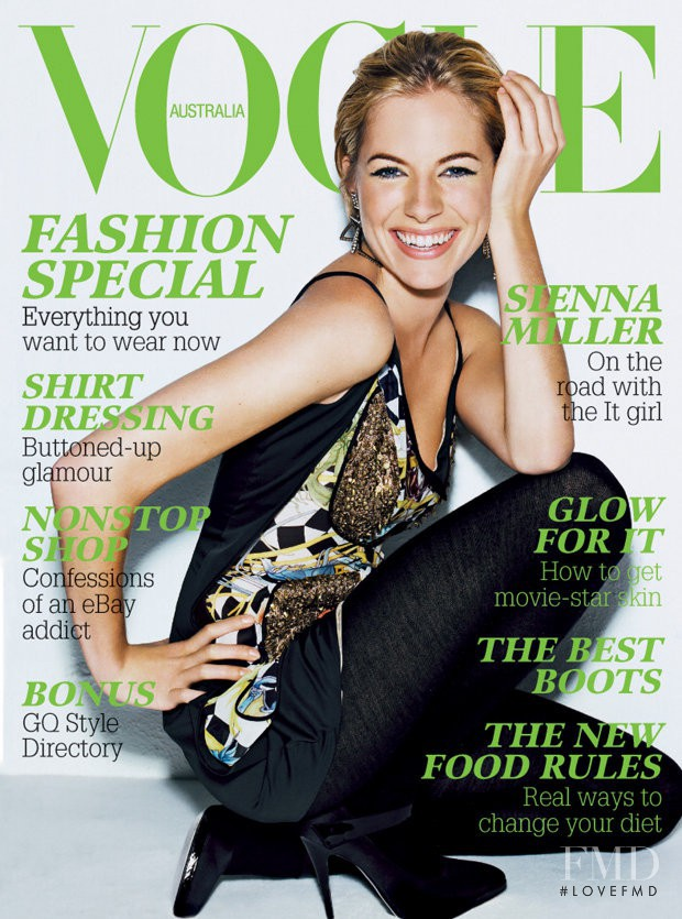 featured on the Vogue Australia cover from April 2006