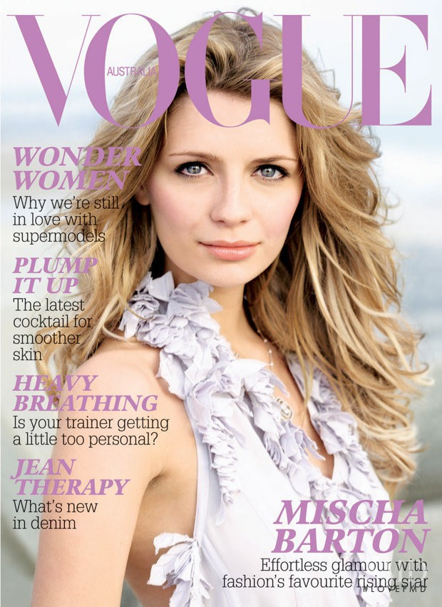 featured on the Vogue Australia cover from July 2006
