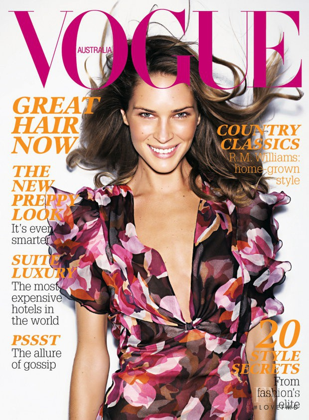 Erin Wasson featured on the Vogue Australia cover from May 2006