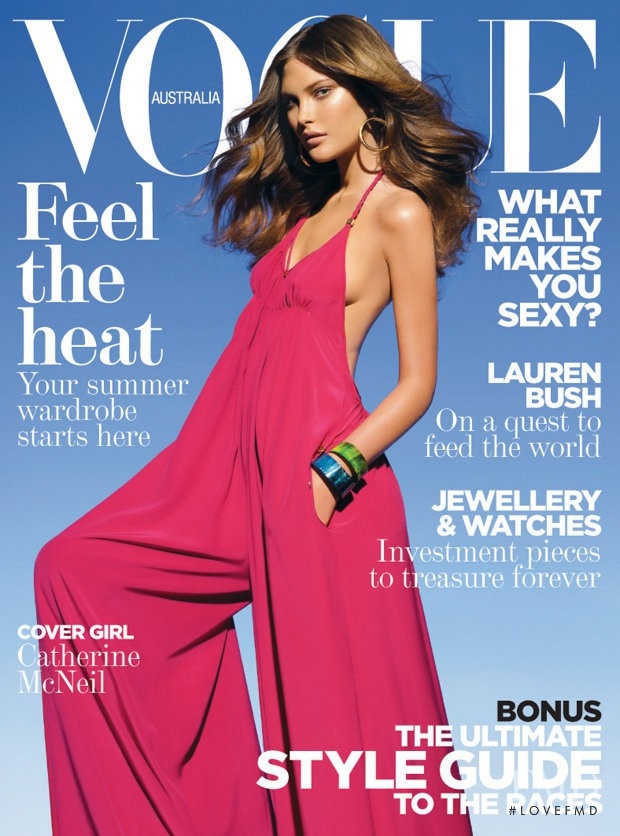 Catherine McNeil featured on the Vogue Australia cover from November 2008
