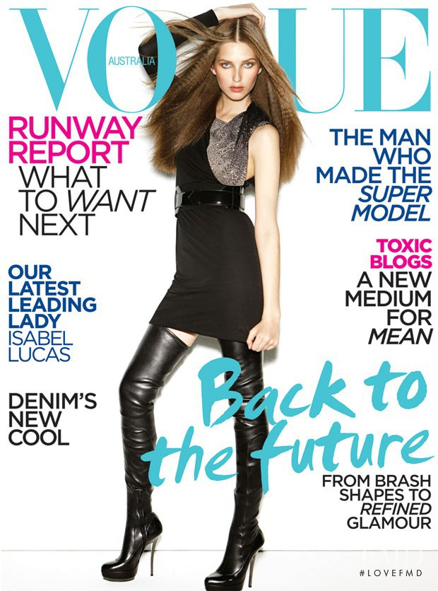 Kelsey van Mook featured on the Vogue Australia cover from August 2009