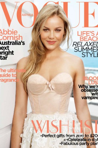 featured on the Vogue Australia cover from December 2009