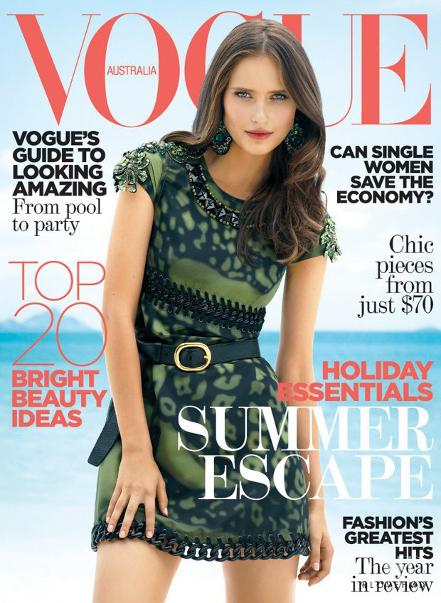 Valerija Erokhina featured on the Vogue Australia cover from January 2009
