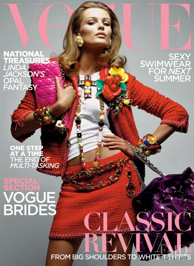 Edita Vilkeviciute featured on the Vogue Australia cover from June 2009