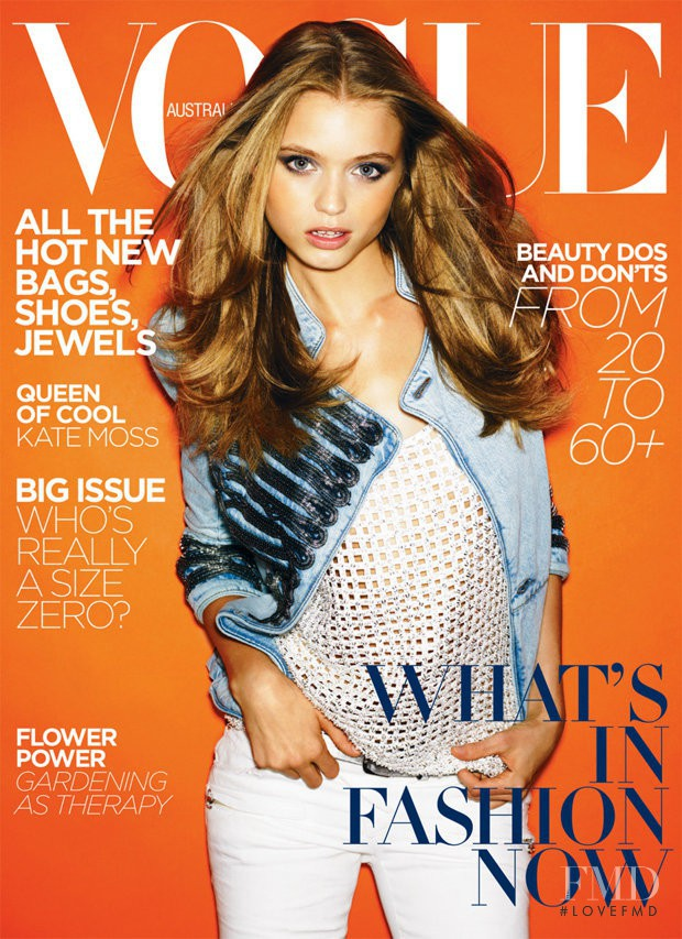 Abbey Lee Kershaw featured on the Vogue Australia cover from March 2009