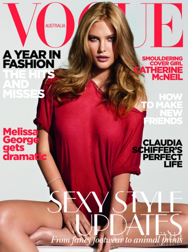 Catherine McNeil featured on the Vogue Australia cover from January 2010