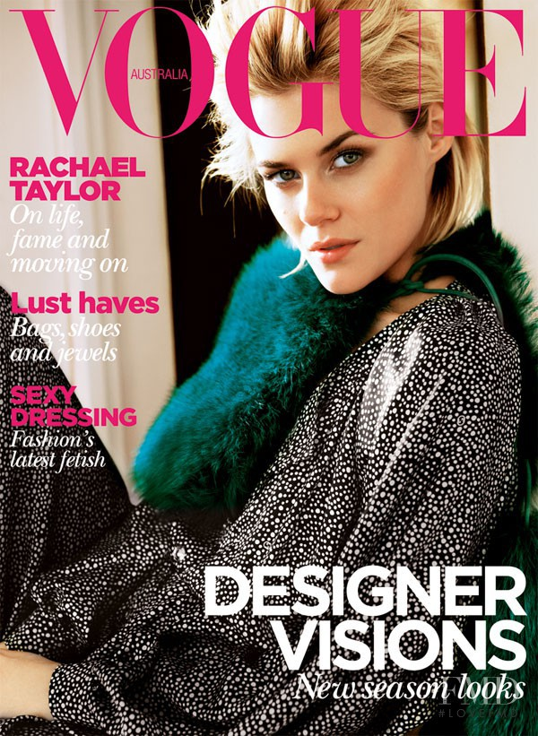 Rachael Taylor featured on the Vogue Australia cover from August 2011