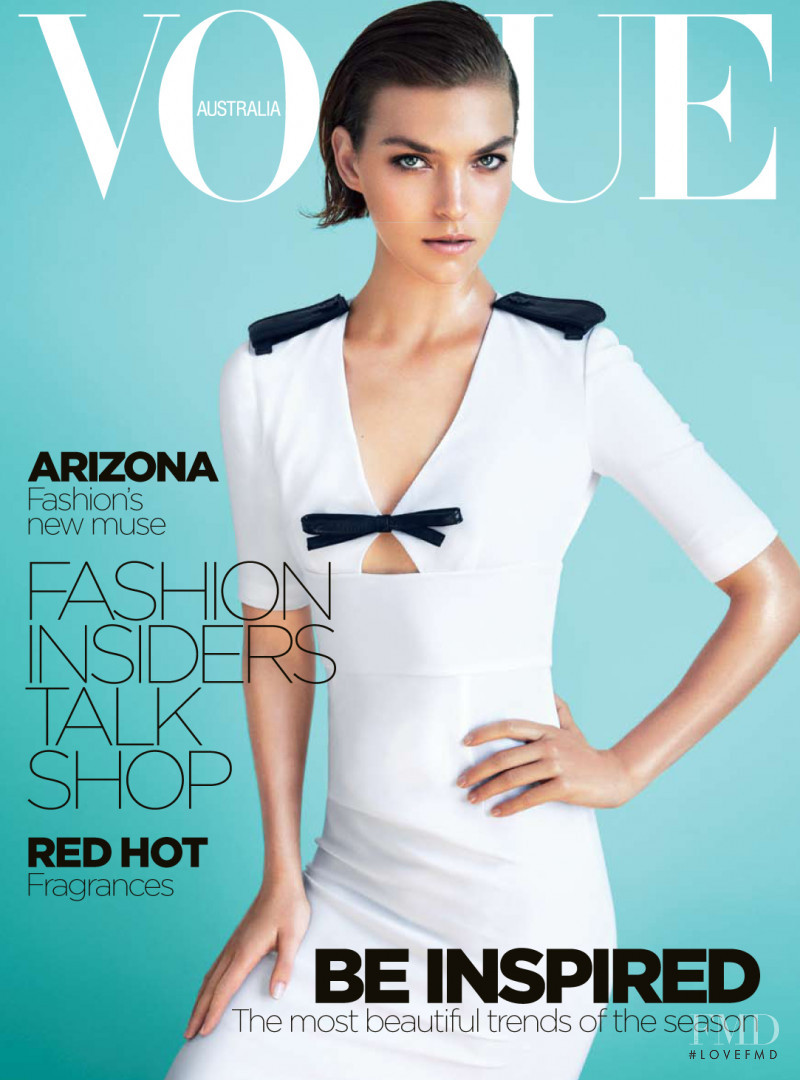 Arizona Muse featured on the Vogue Australia cover from October 2011