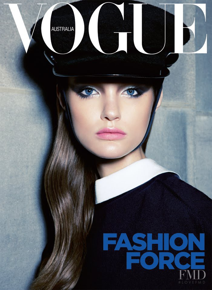 Katie Fogarty featured on the Vogue Australia cover from September 2011