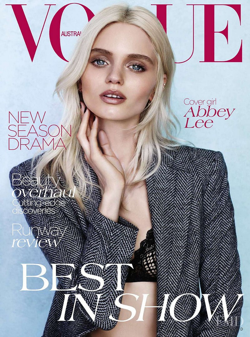 Abbey Lee Kershaw featured on the Vogue Australia cover from August 2012