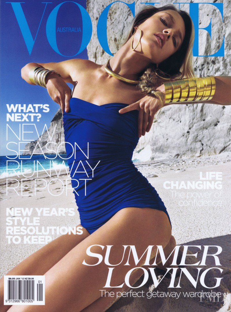 Karmen Pedaru featured on the Vogue Australia cover from January 2012