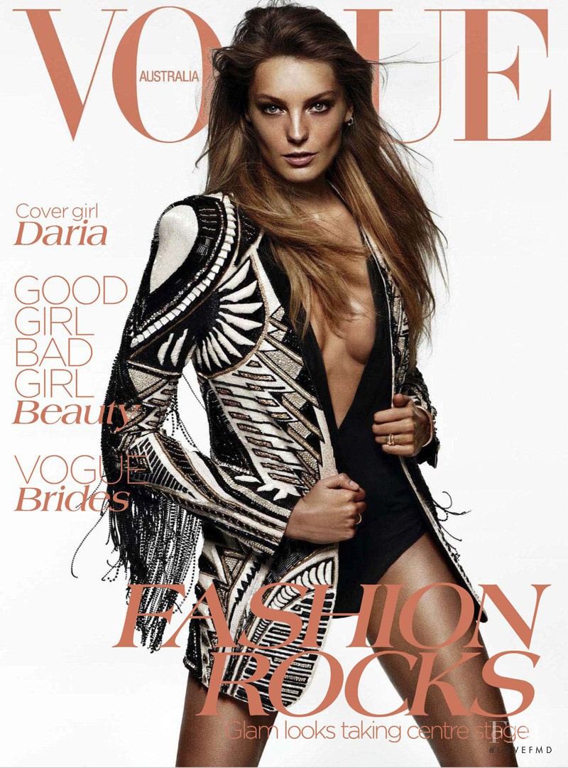 Daria Werbowy featured on the Vogue Australia cover from June 2012