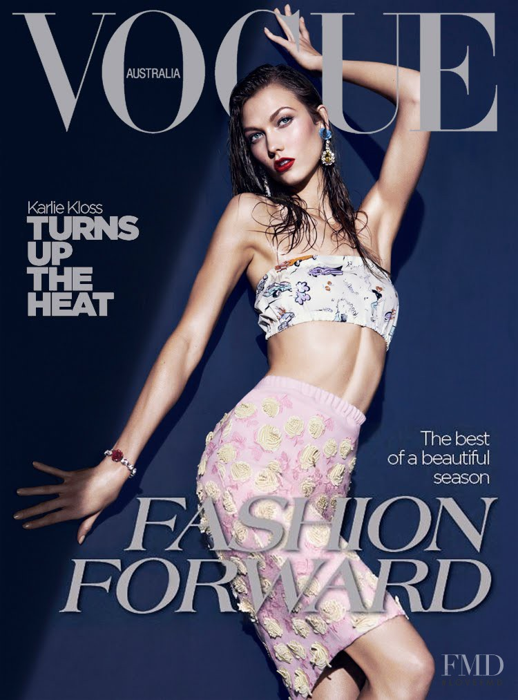 Karlie Kloss featured on the Vogue Australia cover from March 2012