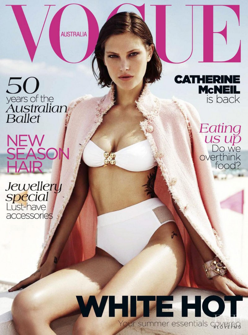 Catherine McNeil featured on the Vogue Australia cover from November 2012
