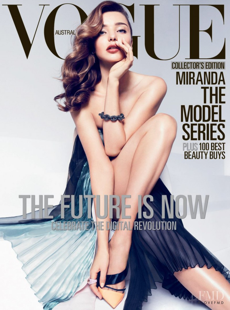 Miranda Kerr featured on the Vogue Australia cover from April 2013