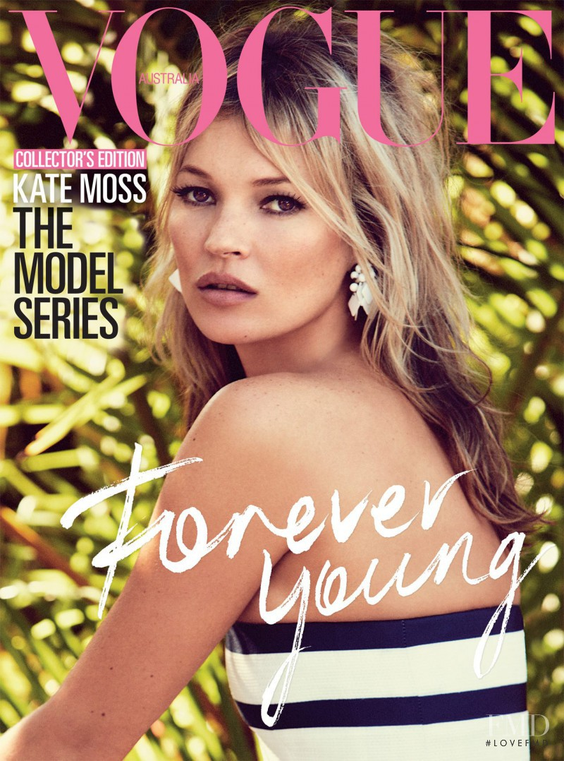 Kate Moss featured on the Vogue Australia cover from August 2013