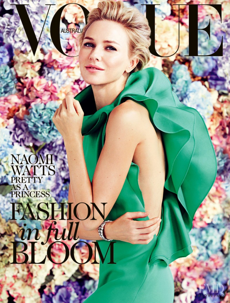 Naomi Watts featured on the Vogue Australia cover from February 2013