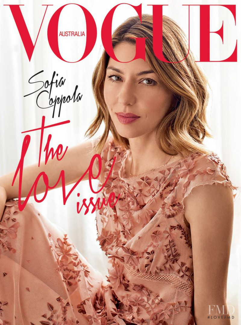 Sofia Coppola featured on the Vogue Australia cover from July 2013