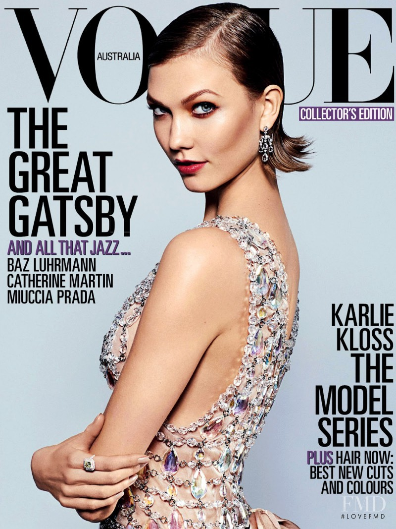 Karlie Kloss featured on the Vogue Australia cover from May 2013
