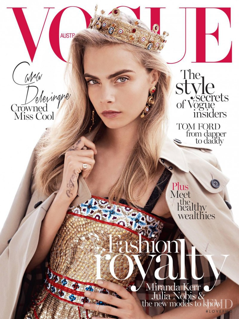 Cara Delevingne featured on the Vogue Australia cover from October 2013