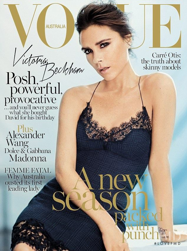 Victoria Beckham featured on the Vogue Australia cover from September 2013
