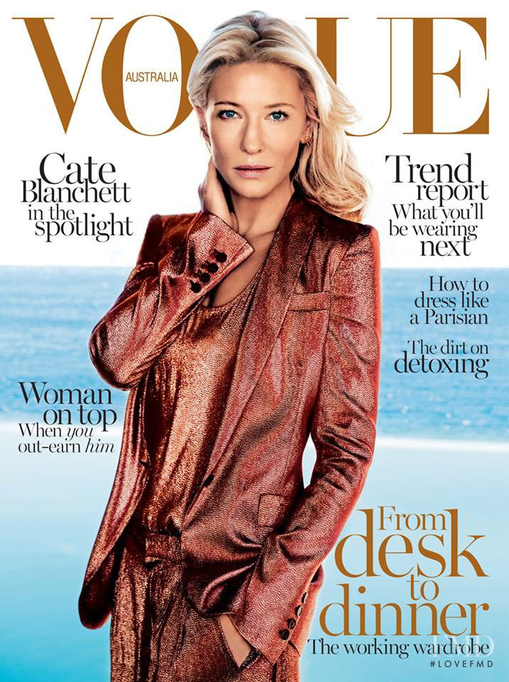 Cate Blanchett featured on the Vogue Australia cover from February 2014