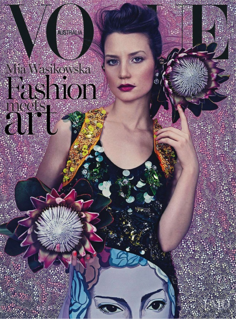 Mia Wasikowska featured on the Vogue Australia cover from March 2014