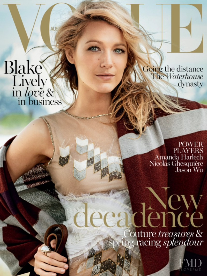 Blake Lively featured on the Vogue Australia cover from November 2014