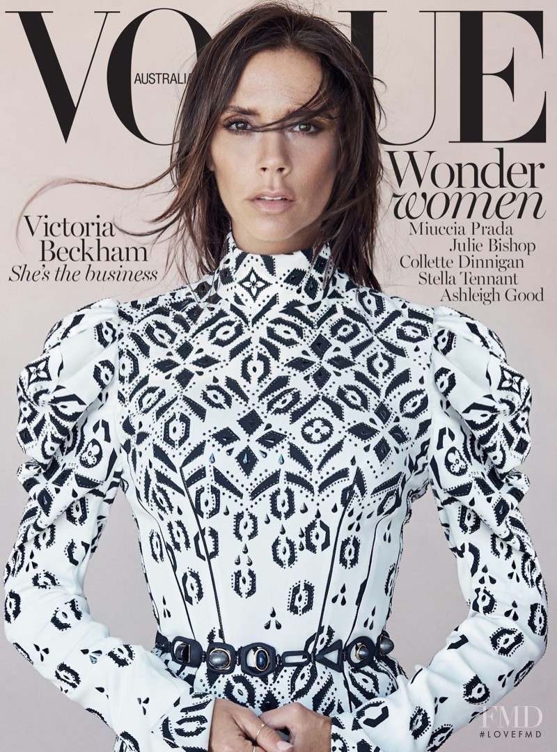 Victoria Beckham featured on the Vogue Australia cover from August 2015