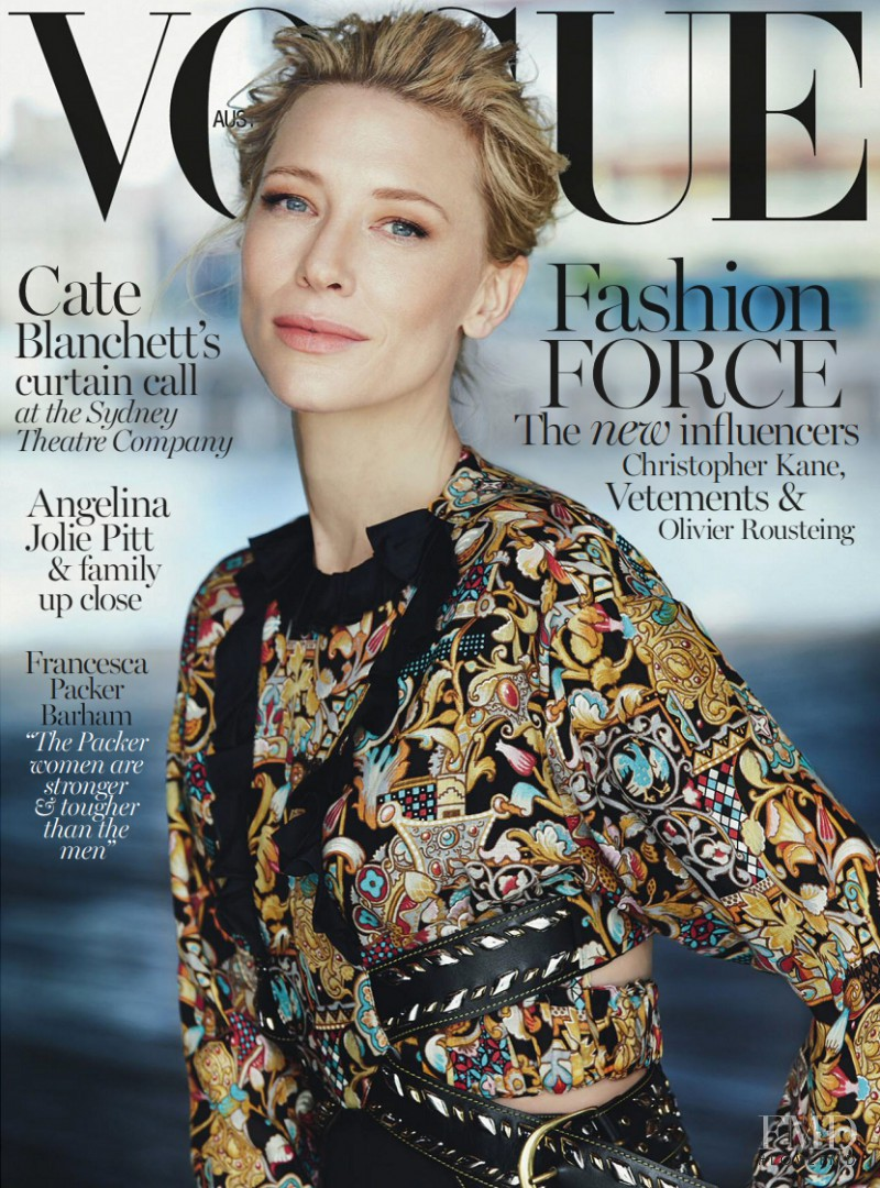Cate Blanchett featured on the Vogue Australia cover from December 2015