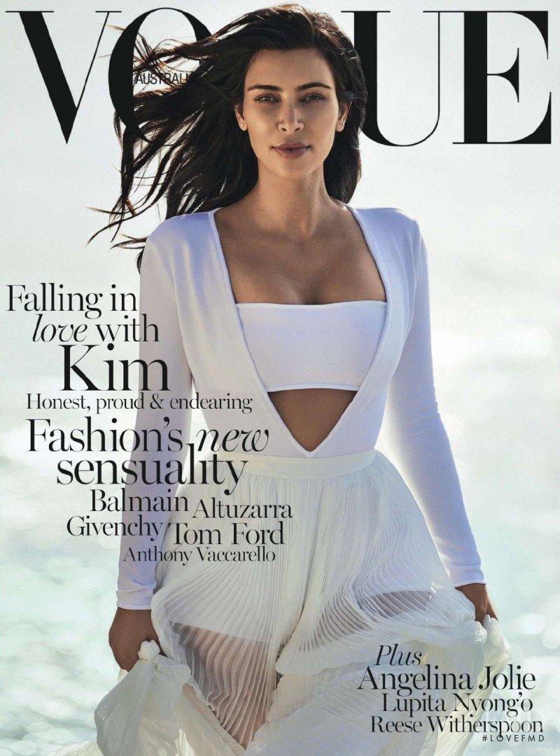 Kim Kardashian featured on the Vogue Australia cover from February 2015