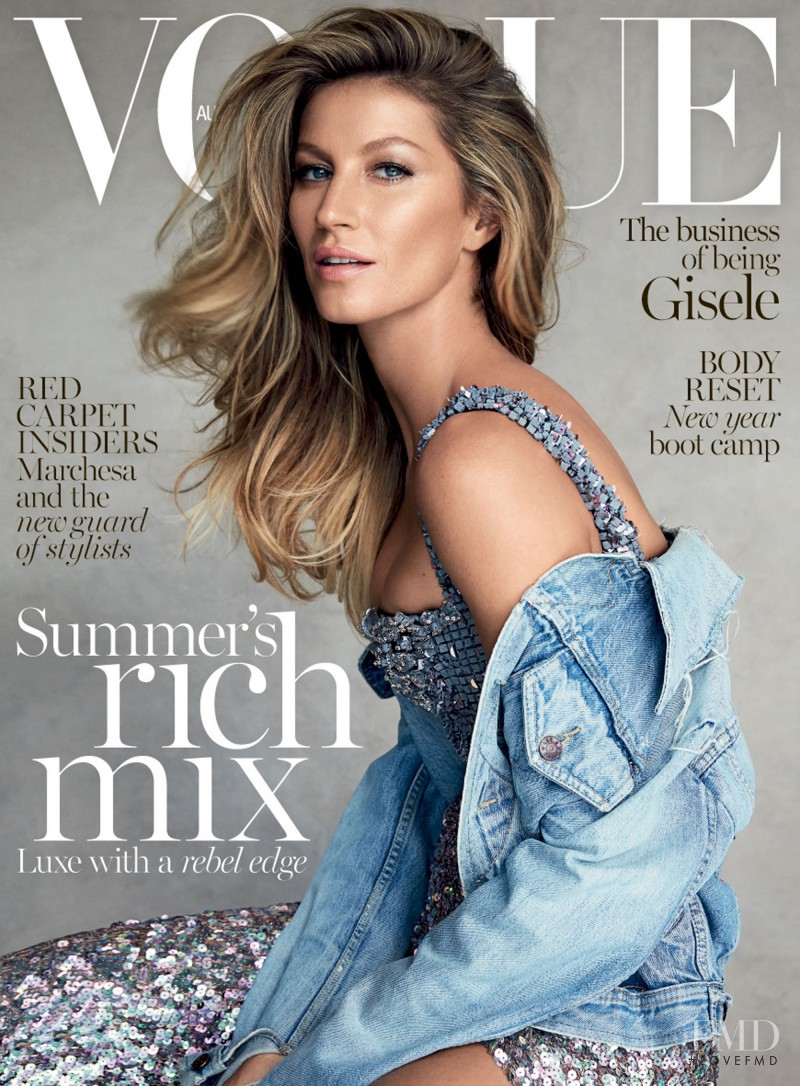 Gisele Bundchen featured on the Vogue Australia cover from January 2015