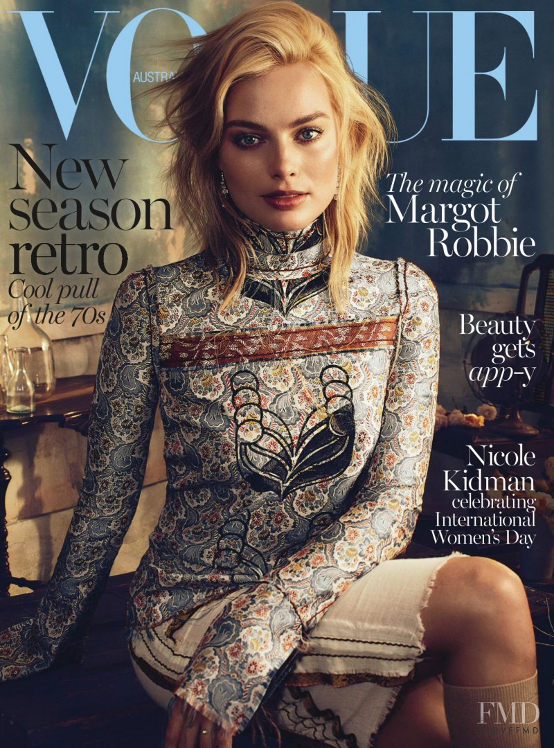 Margot Robbie featured on the Vogue Australia cover from March 2015