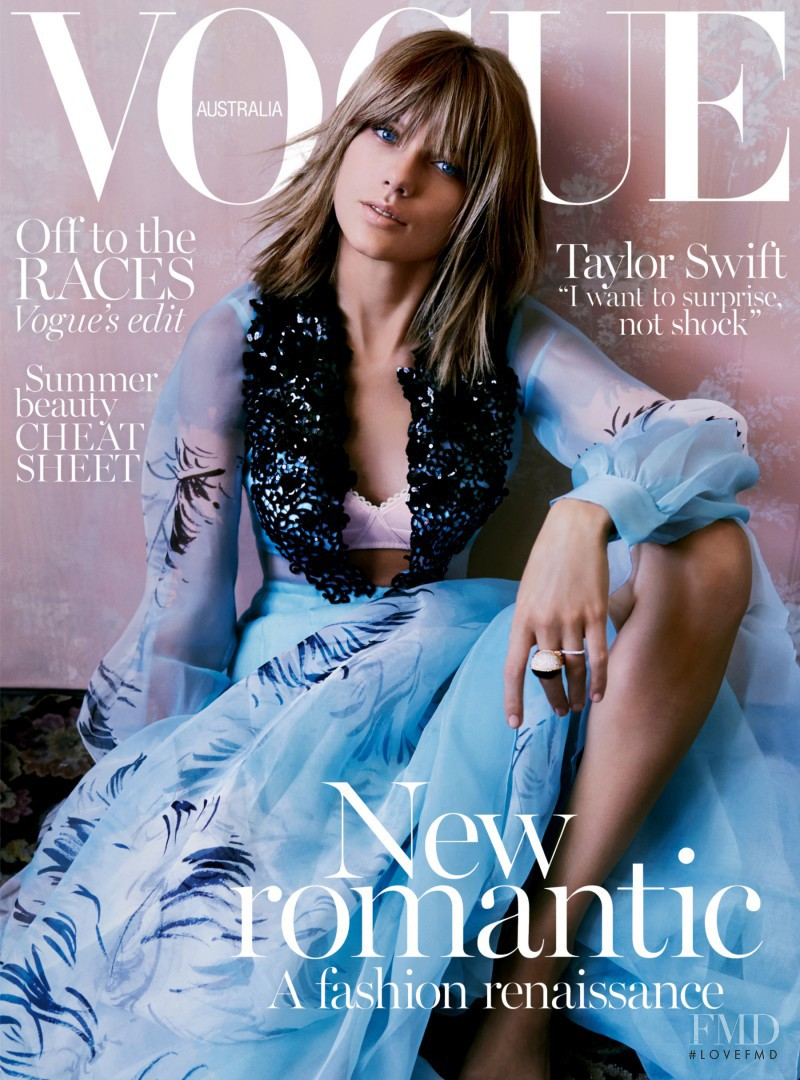 Taylor Swift featured on the Vogue Australia cover from November 2015
