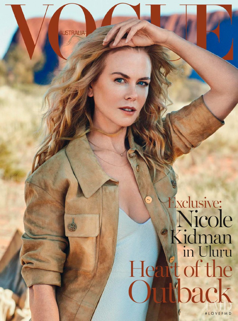 Nicole Kidman featured on the Vogue Australia cover from September 2015